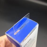 Buy China clear PVC boxes custom box packing boxes plastic favor boxes with hanger at wholesale prices