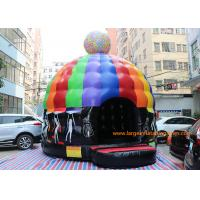Quality 6 * 5 * 4M Inflatable Bouncy House Disco Bouncer castle With Led Ligh & Sound for sale