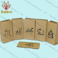 Quality Eco-friendly Stand Up Brown Kraft Customized Paper Bags For Shopping for sale