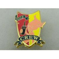 Buy cheap Gold Plating 3D Metal Soft Enamel Pin / Police Military Army Pin Badges from wholesalers
