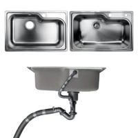 Quality Undermount Kitchen Bathroom Sinks With Single Bowl Brushed Metal Material for sale
