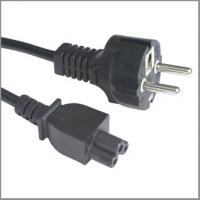Quality European cord set with CEE7/7 straight plug VDE approval power supply cord with C5 for sale