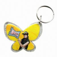 Quality Promotional acrylic keyrings, customized sizes and shapes are accepted for sale