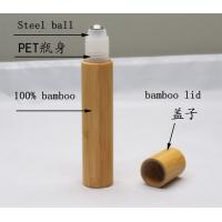 Buy empty 15ml  cosmetic bamboo roll on bottle for eye serum at wholesale prices