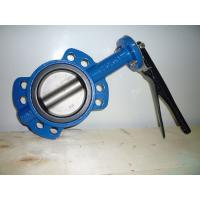China Integral Gluing Cast Iron Butterfly Valves Precise Geometric Size Reliable Sealing on sale