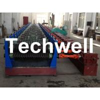 Quality Automatic 4 - 8m/min Galvanized Steel Silo Corrugated Wall Sheet Roll Forming Machine for sale