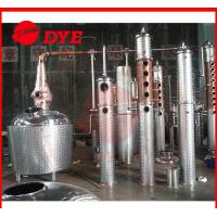 Quality 500Gal Stainless Steel / Copper Industrial Distillation Equipment With Bubble Cap for sale
