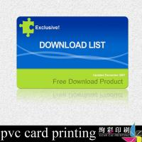 Quality Laser Hologram Label Printed Plastic Cards Matte Surface For Advertising for sale