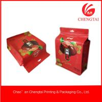 Quality UV Printing Block Bottom Bags With Clear Window For Noshes Food for sale