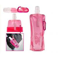 Quality BPA Free PET Plastic Drinking Water Bag / 500ml Pink Hiking Water Bag for sale