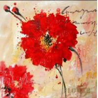 Quality modern flower painting fashion painting for sale
