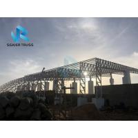 Quality Gymnasium / Hall Prefabricated Steel Structure High Tensile Strength Membrane Roof for sale