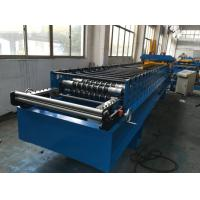 Quality 7.5kw Corrugated Sheet Metal Roll Forming Machine With Electrical Decoiler for sale