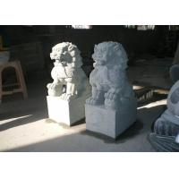 Quality Natural  Stone Garden Sculptures Stone Lion Garden Ornaments Custom Hand Carved for sale