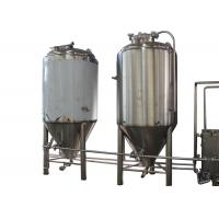 Quality 5BBL Semi-Automatic Industrial Beer Brewing Equipment With Top Manway for sale