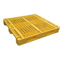 Quality Euro type HDPE single faced grid 9 feet plastic pallet for sale