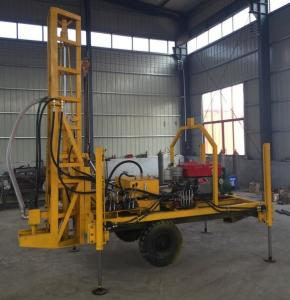 Quality 90r/Min 18.5kw Well Drilling Machine Trailer Mounted for sale