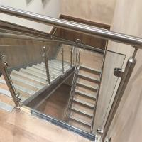 Quality Price Of Modern Stair Stainless Steel Balcony Glass Terrace Railing Design Manufacturer for sale