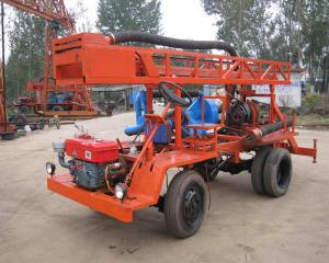 Quality 20kw 300m Tractor Mounted Water Well Drilling Rig Self Propelled for sale