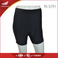 Quality Black Plain Bike Shorts with Pad for Lady from China Factory for sale