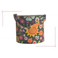 Folding Fabric And Sponge Soft Touch Paperboard Cylinder Creative Gift Boxes With Handle