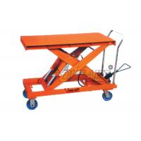 Quality Heavy Duty Pedal Operated Hydraulic Scissor Lift Tables Large Foot Pump Type for sale