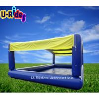 Quality Outdoor Inflatable Swimming Pools Blue Color / Custom Square Inflatable Pool for sale
