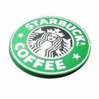 Quality PVC coaster, customized colors and logos are accepted for sale