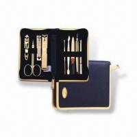 Quality Manicure Set with Butterfly Zipper Pocket, Made of Stainless Steel, OEM Orders are Welcome for sale