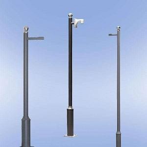 Quality Hot Dip Galvanized Q235B Steel CCTV Camera Pole for sale