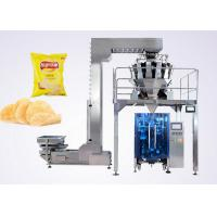Buy Puffed Food VFFS Packaging Machine for Potato Chips with Electronic Multi-head Weigher at wholesale prices