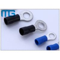 Quality Corrosion Resistance Blue / Black Copper Ring Terminals A.W.G. 14 - 12  / 16-14 for sale