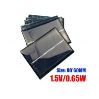 Quality 60 X 80mm Dimension Polycrystalline Silicon Solar Panels For Portable Garden Light for sale