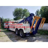 China 360 Degree Rotation Crane Wrecker Tow Heavy Cargo Truck For Broken Car Tow on sale
