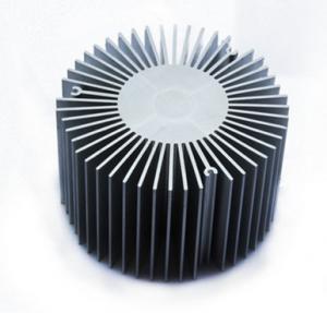 Quality Led Aluminium Heatsink Extrusions , Silvery / Black Anodized Extruded Aluminium Profiles for sale