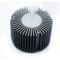 China Led Aluminium Heatsink Extrusions , Silvery / Black Anodized Extruded Aluminium Profiles on sale