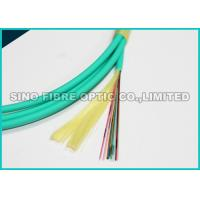 Quality Flat Round 24 Core Fiber Optic Cable OM3 100G Data Covered With Aramid Yarn for sale