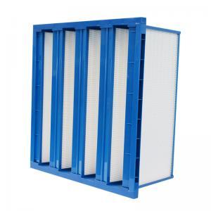 Quality Plastic Frame V Bank Pocket Air Filter H10 Hepa Filter With High Air Volume for sale