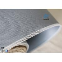 Quality Double-sides 1.5m*50m 0.45mm Gray Silicone Coated Fiberglass Fabric Welding Curtain for sale