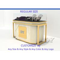Buy Lockable Retail Jewelry Store Jewelry Display Counter With OEM Logo at wholesale prices