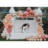 Buy cheap 0.55mm PVC Tarpaulin Inflatable Wedding Bouncer Inflatable White Wedding Bounce from wholesalers