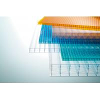 Buy cheap Multi Color Corrugated Polycarbonate Roofing Sheets Weather And UV Resistant from wholesalers