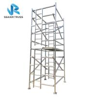 Quality Building Material Aluminium Mobile Scaffold Adjustable Tower Height Easy Handling for sale