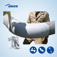 Quality Underground Black Fiber Glass Pipe Repair WrHigh Quality Industry Emergency Pipeline Repair Armored Cast Fiber Wrap Tape for sale