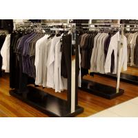 Quality Elegant Modern Style Store Clothing Racks Wooden And Stainless Steel Material for sale