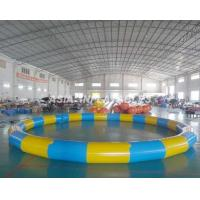 China Round Inflatable PVC Swimming Pool , 3.5M*3.5M PVC Inflatable Pool For Beaches on sale