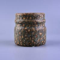 Quality Transmutation Glaze Ceramic Candle Jar for sale