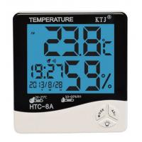 HTC-8A LCD display temperature and humidity meter clock for sale