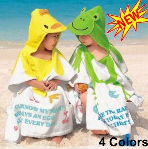 Buy Baby Kid Child Toddler Soft Cotton Cartoon Animal Bathrobe Bath Towel Bath Beach at wholesale prices