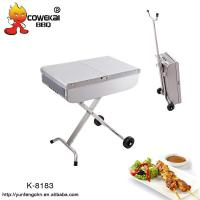 Portable Foldable Trolley Barbecue Grill for sale
